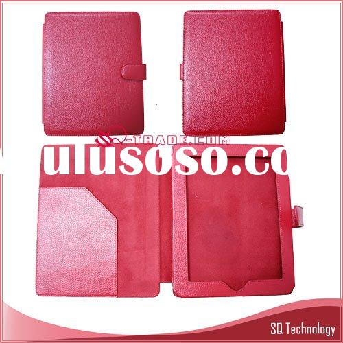 Laptop Notebook Genuine Leather Case for iPad hot pink colour