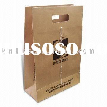 Promotional Shopping Bag, Made of Brown Paper, with Die-cut Handle(KV-202)