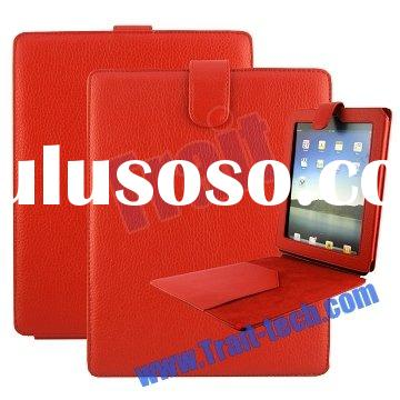Red for iPad Leather Case Cover Vertical Flip