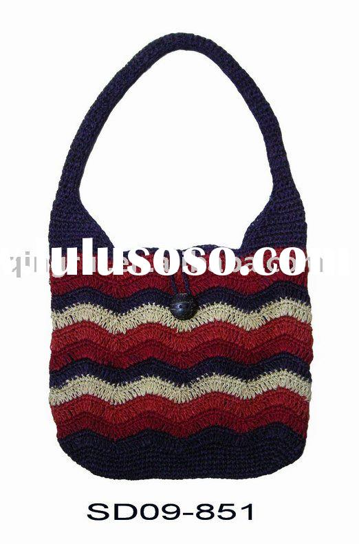 Crochet Ladies Bags : ... tote hand knitted bag fashion bag crochet bag crochet tote ladies bag