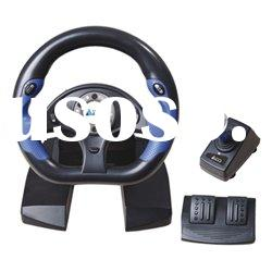 dual format 10 inches video game steering wheel for PS2/PS3/PC/XBOX