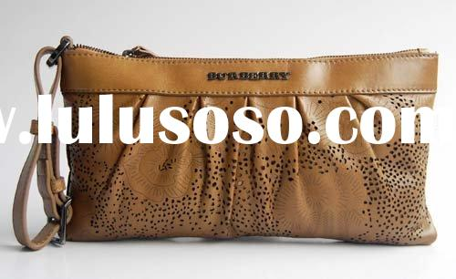 fashion brown leather clutch bags coin purse