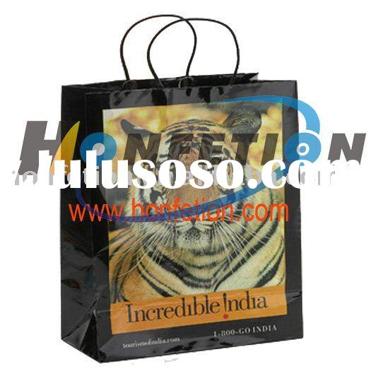 full color craft paper bag with pp handle