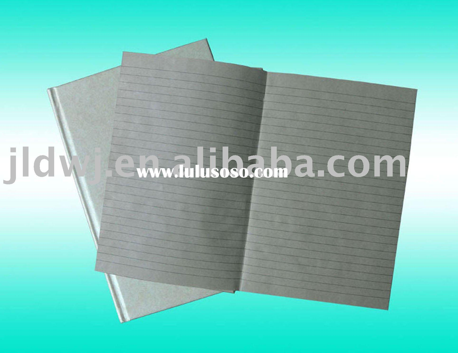 hard  cover brown paper  exercise book