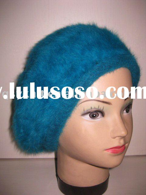 ladies rabbit fur winter hat-FASHION  BERET