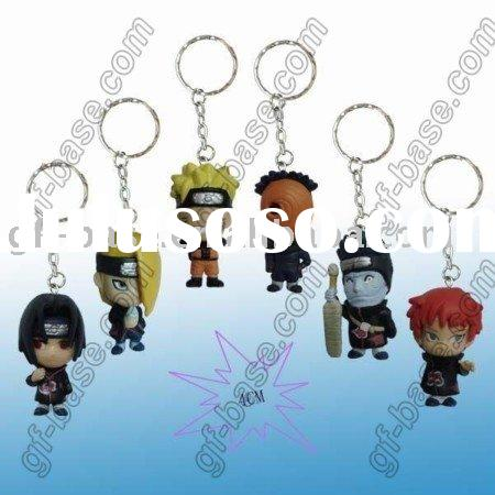naruto action figures key,action figures,plastic key chains