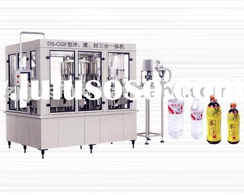 Automatic plastic bottle mineral water filling machine (3-in-1)