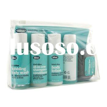 Bliss - Tried + Blue Travel Kit: Shampoo & Conditioner + Body Lotion + Body Wash + Face Wash + S