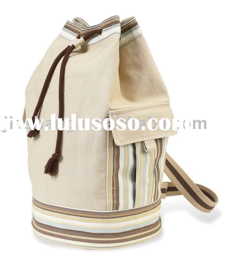 Canvas Tote bag  Drawstring Canvas Tote promo Orangic cotton duffle travel bag bag