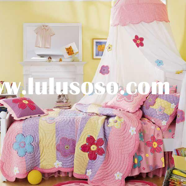 Kids Princess Twin Size Solid White Girls Bedroom Canopy Bed Cover