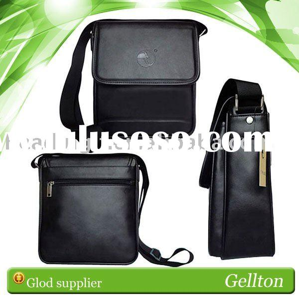 Handheld Leather Bag Pouch with Shoulder Strap for iPad 2(Black)