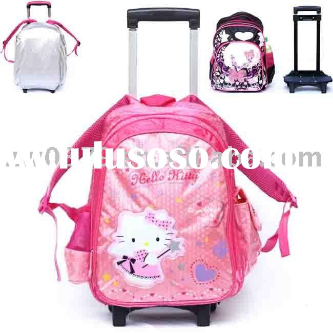 Hot Detachable Trolley School Bags with Rain Cover-LSB 41