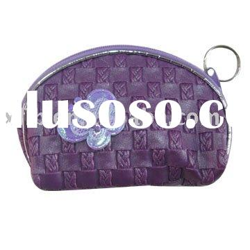 Knitting pattern PVC Leather Coin purse