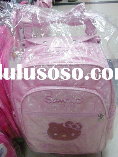 Power Seller +hello kitty wheel bag/wheel school bag/school wheel backpack A295 on sale wholesale &a