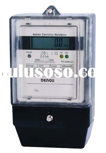 Single phase electronic active energy digital meter