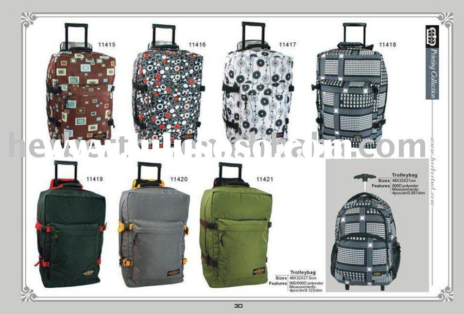 Trending polyester travel trolley bag with wheels