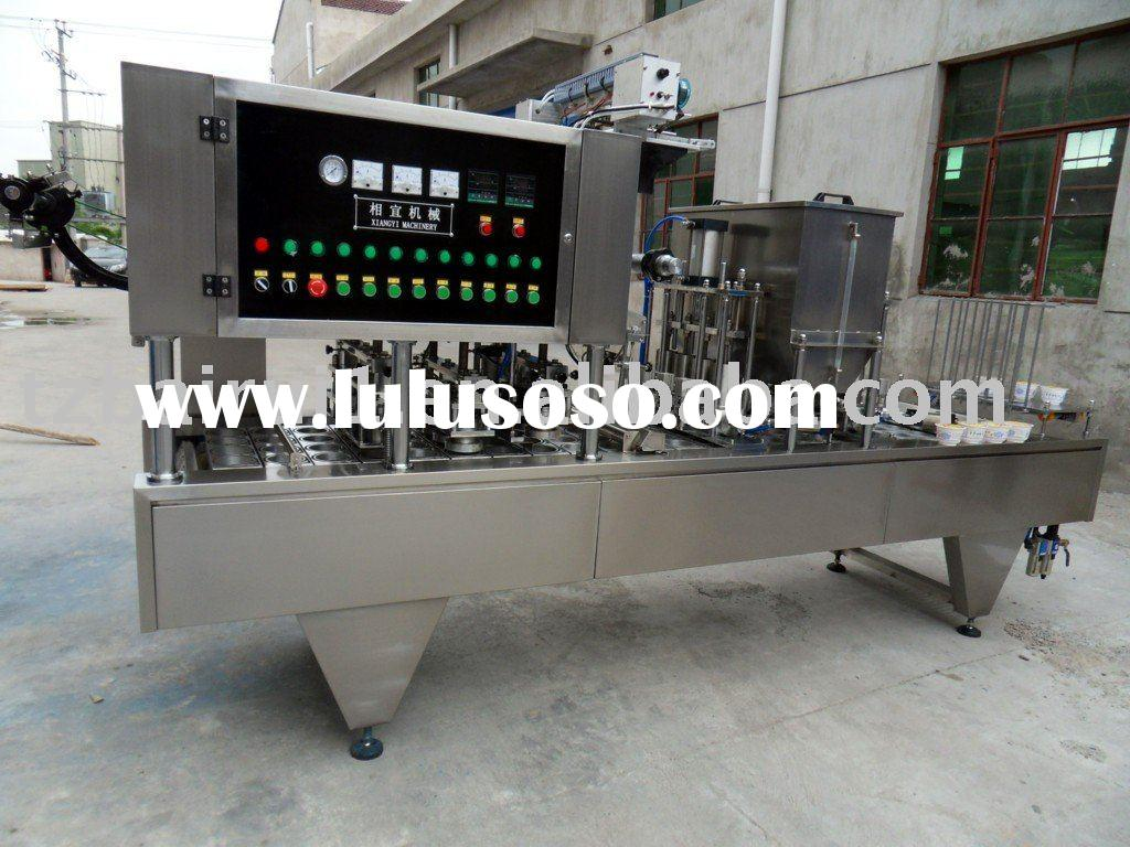 bowl cup filling and sealing machine