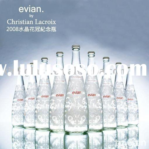 crystal glass bottle, 700ml glass bottle, 2010 arrival glass wine bottle