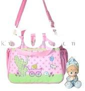 cute little elephants 600D Diaper  bag for mother