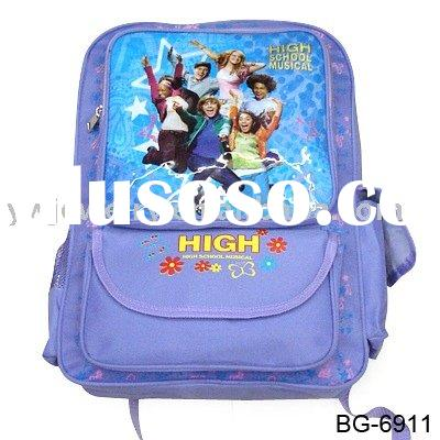 fashion cartoon school bag ,high school  backpack, fashion high school bag