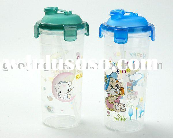 tea water bottle, plastic water bottle, heat transfer printing bottle