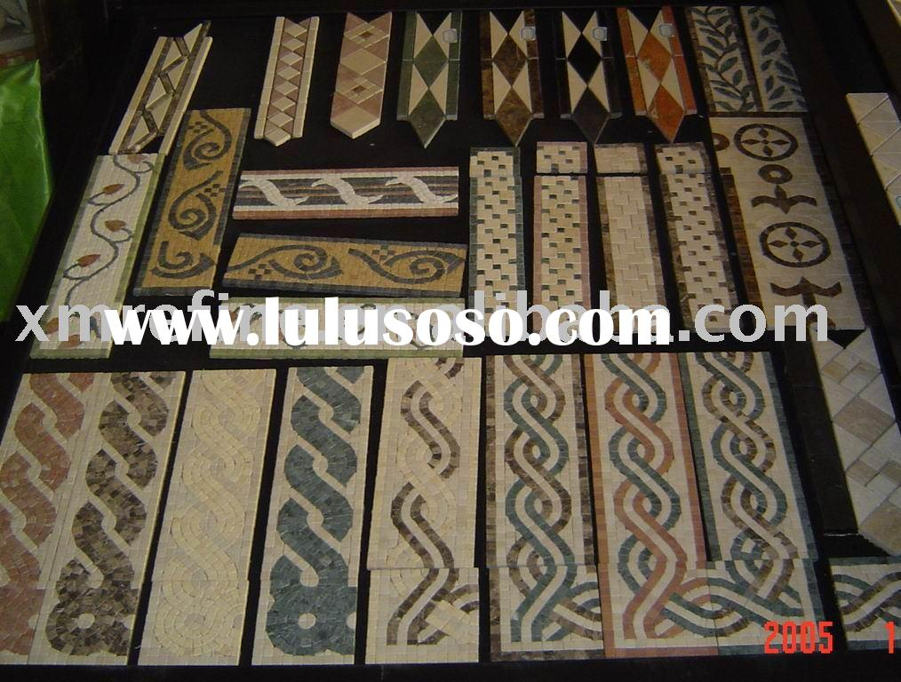 mosaic,inlay,water jet pattern, medallion stone,marble mosaic tile 105