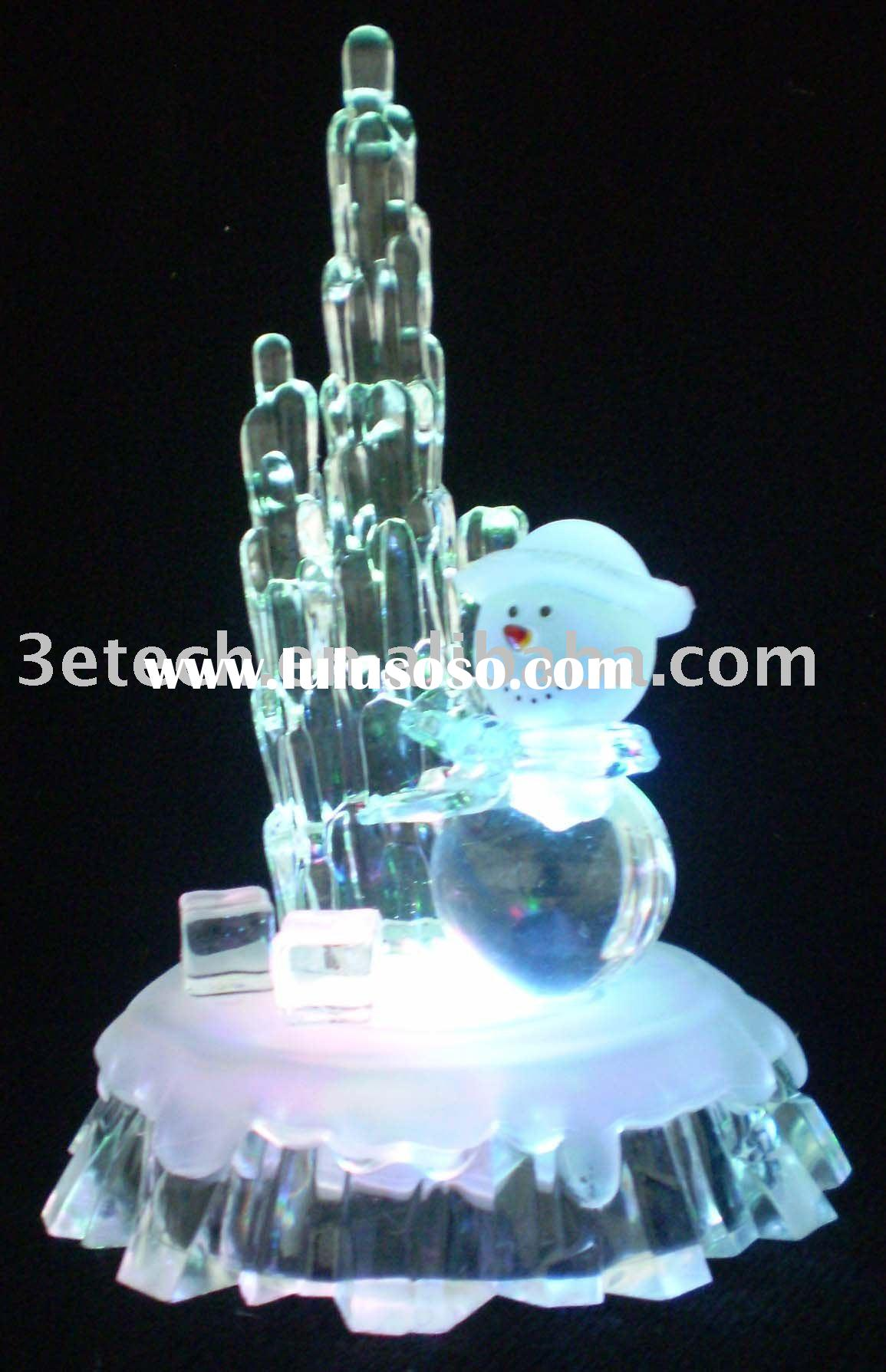3pcs AG13 Battery Operate 13cm Icicle & Bear table light Christmas gift Decoration  Slow RGB lig
