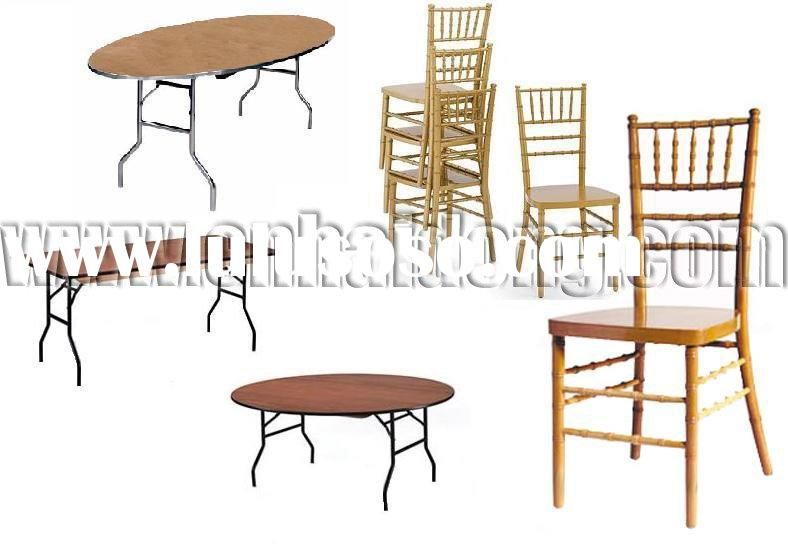 Banquet Equipment Chiavari Chair and Folding Table