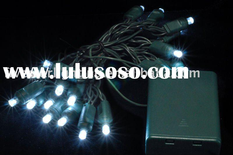Battery operated 5mm white led string lights