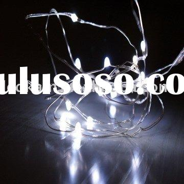 Battery operated led string light,white color with silver wire