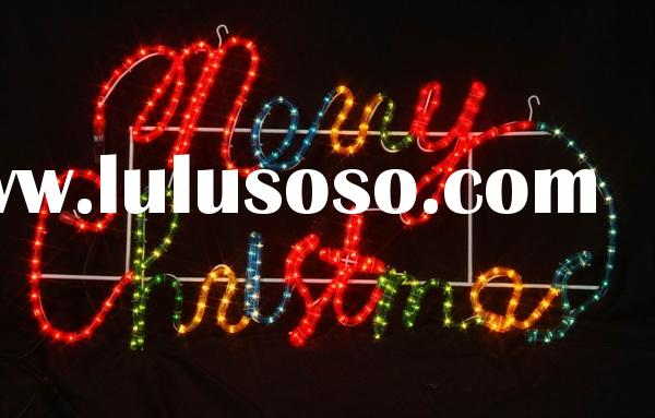 Christmas Yard Sign: Merry Christmas Lighted Sign - Yahoo! Voices