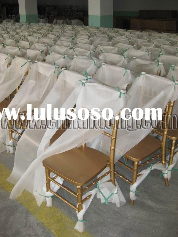 Party Equipment Chiavari Chair and Folding Table