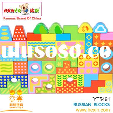 Russian blocks(wooden block,wooden educational toy,wooden building block )