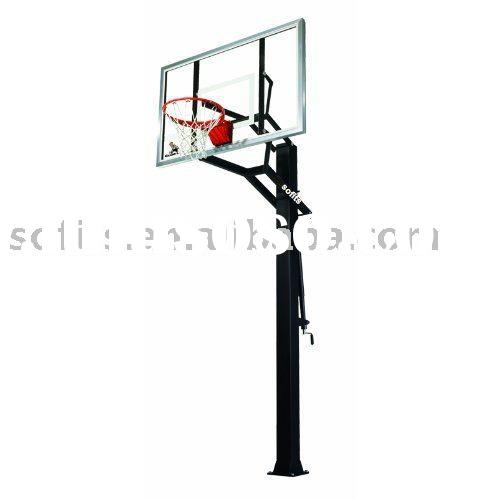 Sofits GS-II In-Ground Basketball System with 60-Inch Aluminum Framed Tempered Glass Backboard