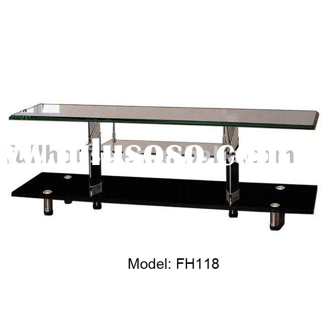 best price tempered glass lcd tv table