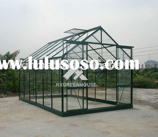 halls wall commercial float/tempered glass greenhouse kits,glazing green house structure HX78126G-1