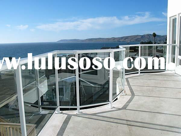 railing glass, deck railing glass, stair railing glass