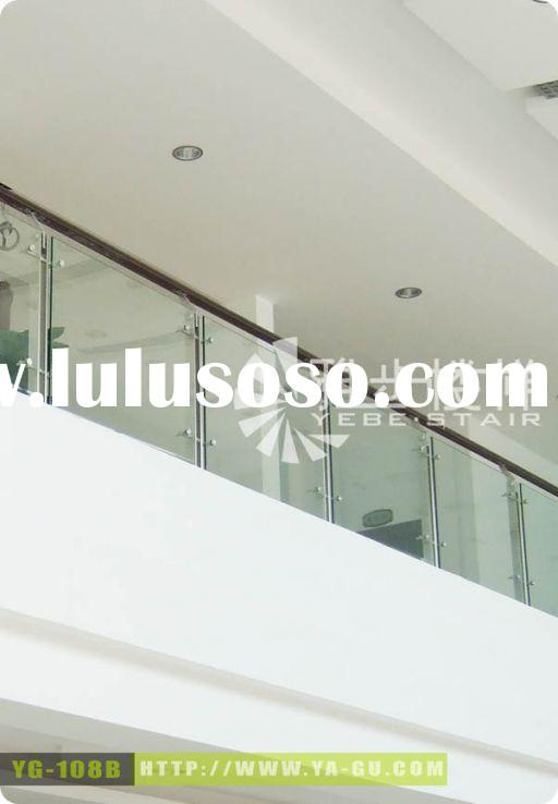 stainless steel railing (stainless steel handrail, baluster, toughened glass)