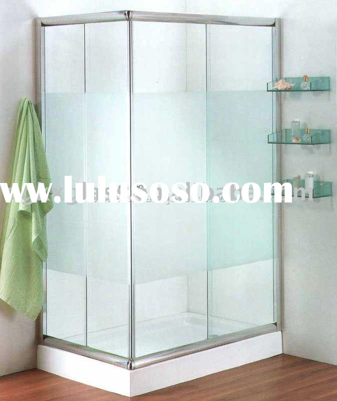 tempered shower glass door