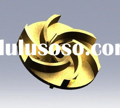 water pump parts, bronze impeller, brass impeller,stainless steel impeller,centrifugal pump impeller