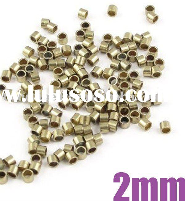2mm Antique Brass Bronze End Beads Crimp Tubes Crimp Beads Jewelry Findings Jewelry Accessories Jewe