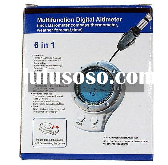 6 in 1 Digital Altimeter Compass Thermometer Barometer