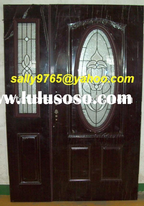 Double Exterior steel door with lights