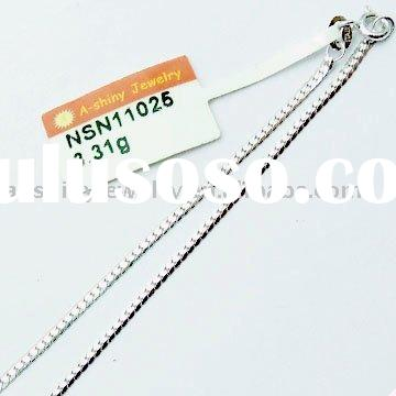 High Quality 925 Sterling Silver Box Chain