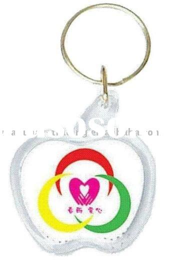 Personalized Gift Logo Apple Acrylic Hot Keychain Key Holder
