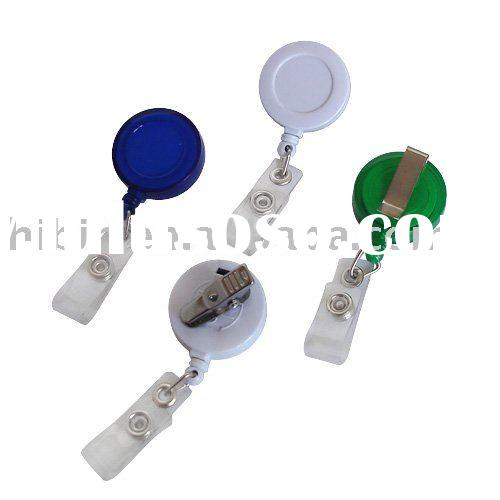 Retractable Badge Holder with Key Chain (HB5101, HB5101-1)