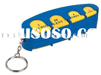 euro coin holder,key purse,coin key chain,coin holder key chain,coin holder keychain,coin holder key
