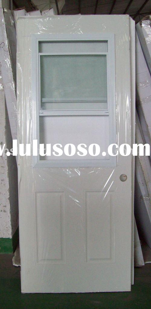 Steel door with window steel door with window for Exterior door opening window
