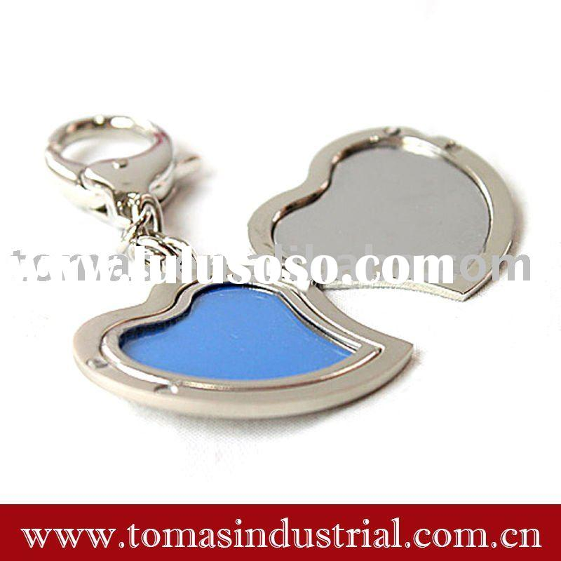 key chain with photo frame heart shape holder