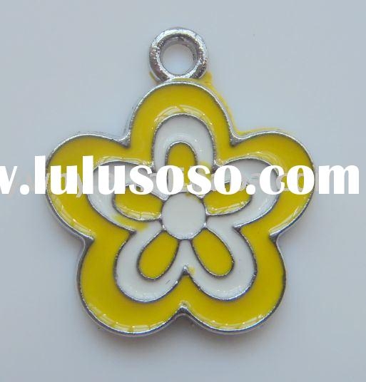 metal enamel beads enamel metal flower metal beads